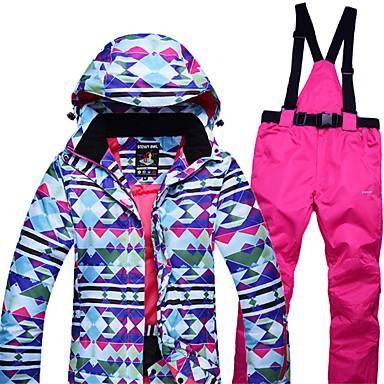Women s Ski Jacket with Pants Windproof b1560317b
