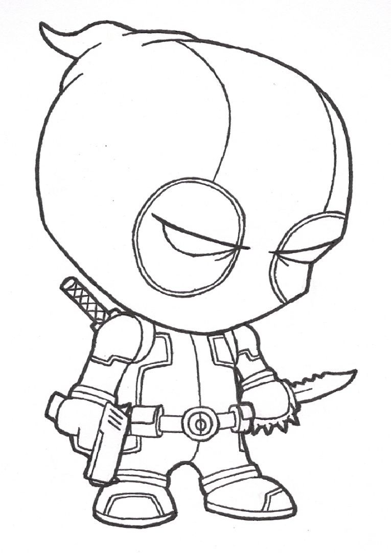deadpool coloring book coloring pages Pinterest Deadpool and