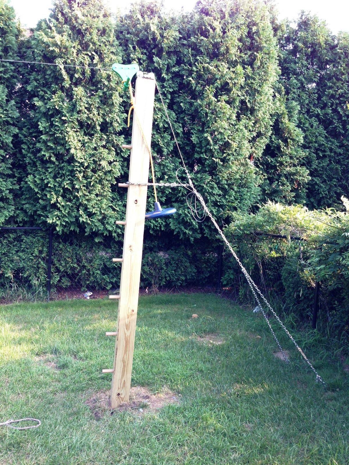 building zip line your backyard garden inspiration pinterest