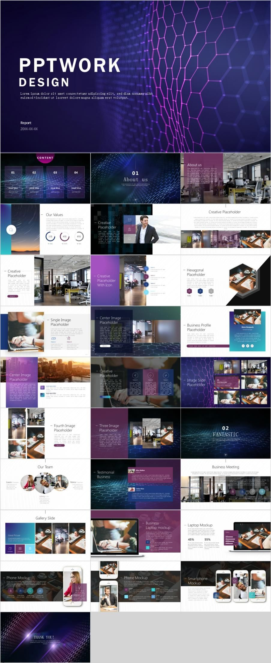 29+ multicolor company report PowerPoint template