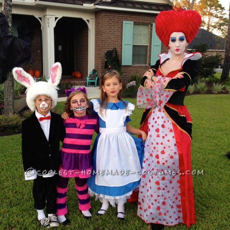 Alice Og Wonderland Familie Kostumer