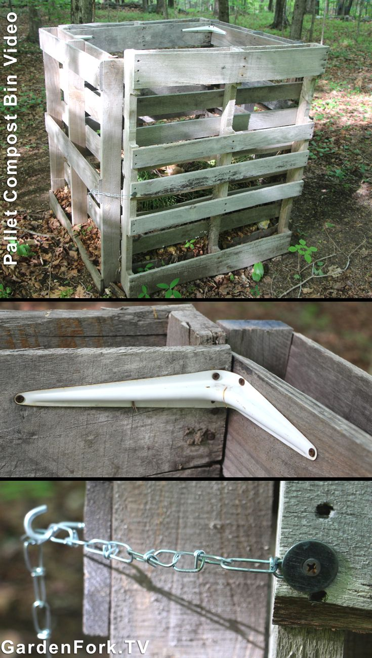 Diy pallet compost bin video we made this compost bin out