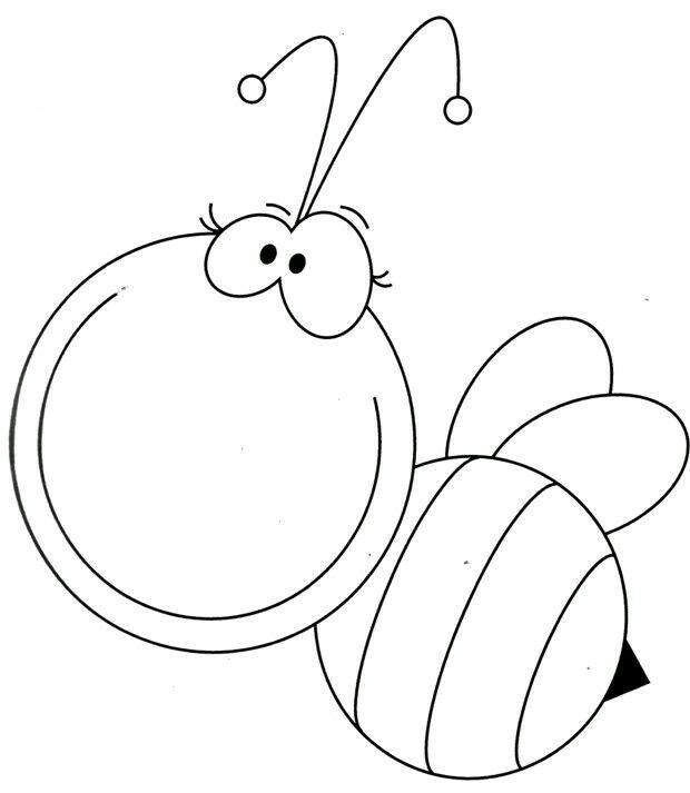 Molde abejita. | tarjeteria | Pinterest | Abeja, Molde y Dibujo