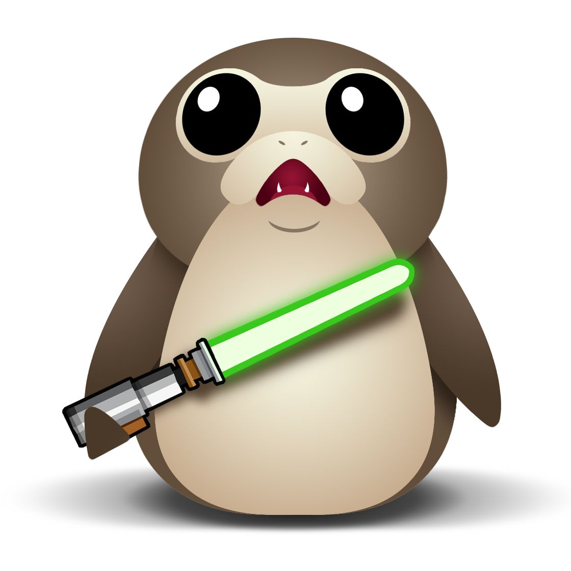 Jedi Porg - lightsabercollection.com mascot #jediporg | Star Wars ...