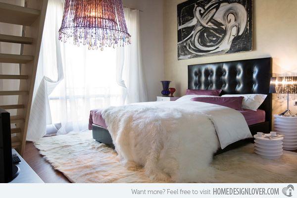 15 Stunning Black, White and Purple Bedrooms | Purple bedrooms ...
