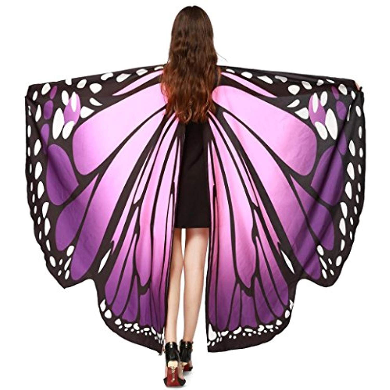 155c7a86be7 Tloowy 2018 New Womens Halloween Butterfly Wings Shawl Cape Scarf ...