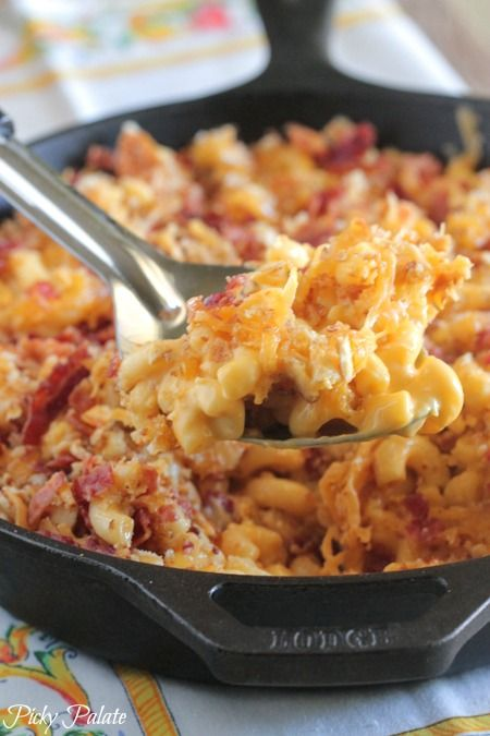 Skillet Baked Mac And Cheese Recipe Food Recipes Bake Mac