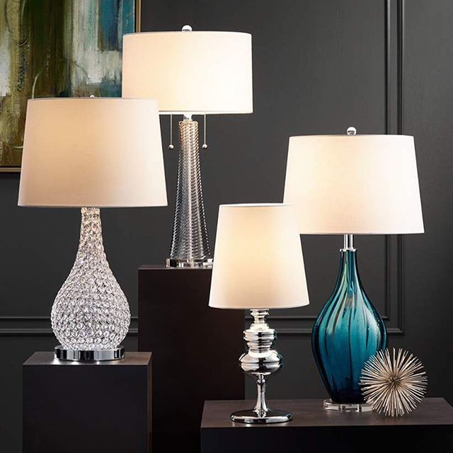 Make An Elegant Statement With This Gourd Table Lamp With A Crystal Beaded  Design Topped With Design