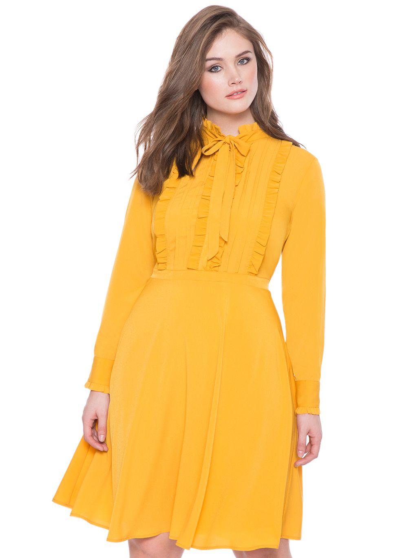 Ruffled dresses for women plus size