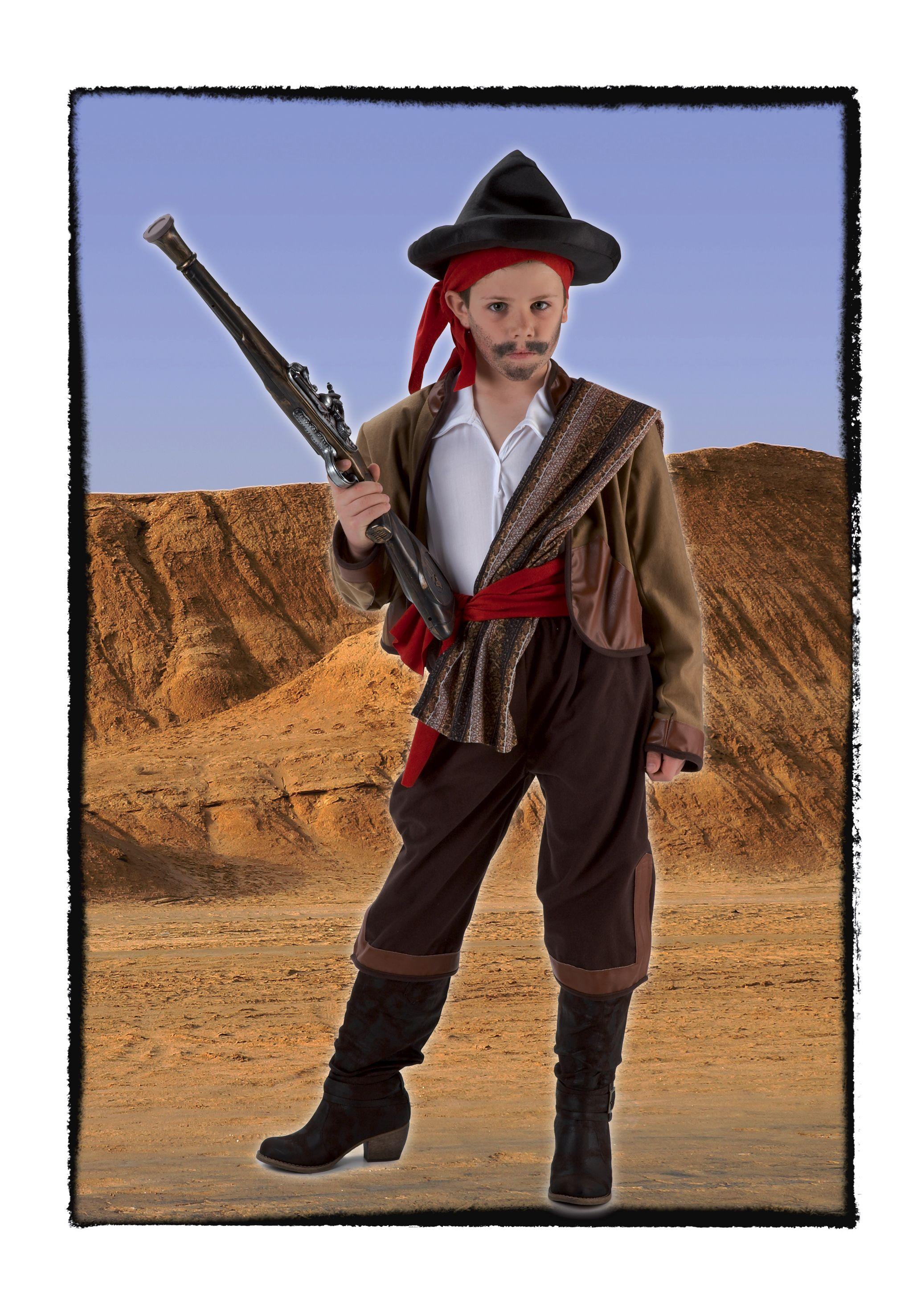 Disfraz de Bandolero infantil. #disfraces para ser un pequeño Curro Jimenez