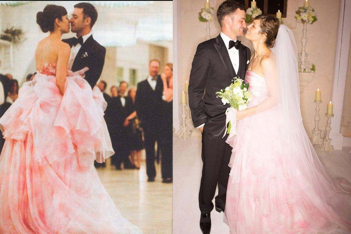 The Most Stunning Celebrity Wedding Dresses Of All Time Jessica Biel Wedding Dress Celebrity Wedding Dresses Wedding Dresses