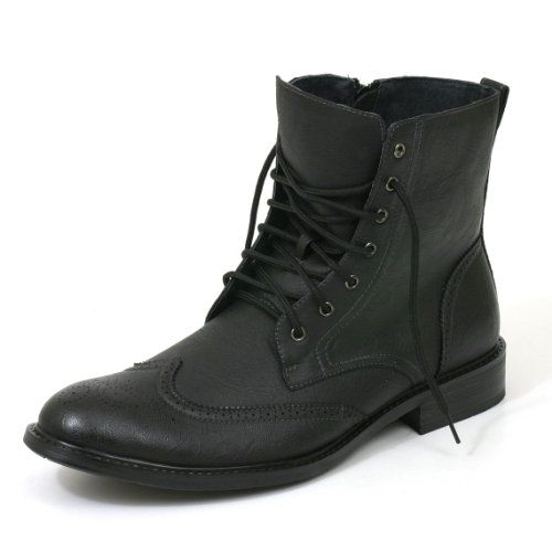 Mens Wingtip Fashion High Ankle Boots Dress Leather Lined Shoes ...