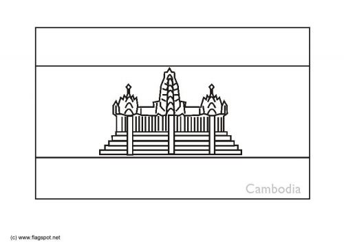 Coloring Page Flag Cambodia งานฝ ม อจากกระดาษ