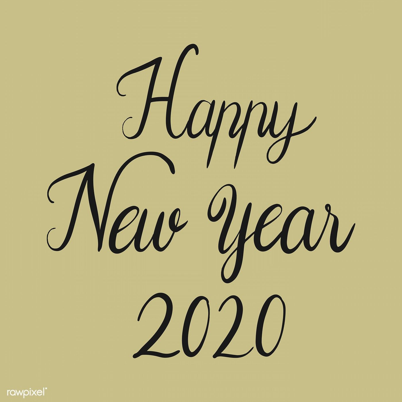 Happy New Year 2020 Typography Design Vector Premium Image By Rawpixel Com Noon In 2020 Happy New Year Greetings Happy New Year Typography Happy New Year Cards