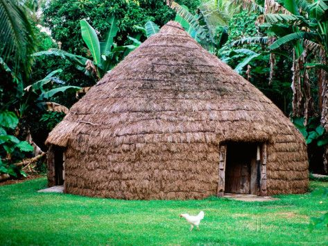 Traditional Kanak House Lifou Island Loyalty Islands