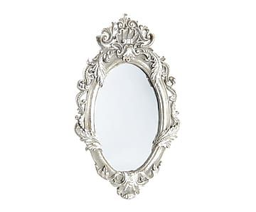 Espejo de pared con marco de resina plateado 33x49 cm - Espejos con marco plateado ...