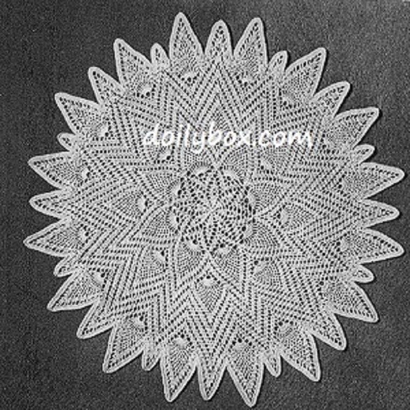 20 Inch Written Free Crochet Large Sunburst Pineapple Doily