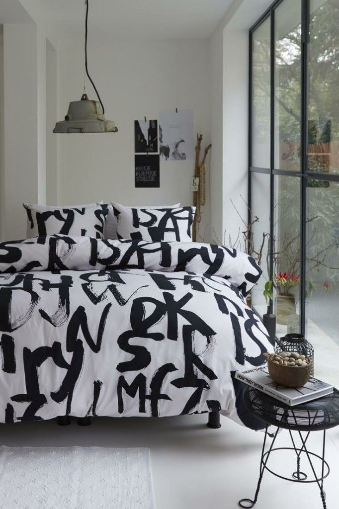zwart-wit slaapkamer | webshops misc | Pinterest - Zwart wit ...