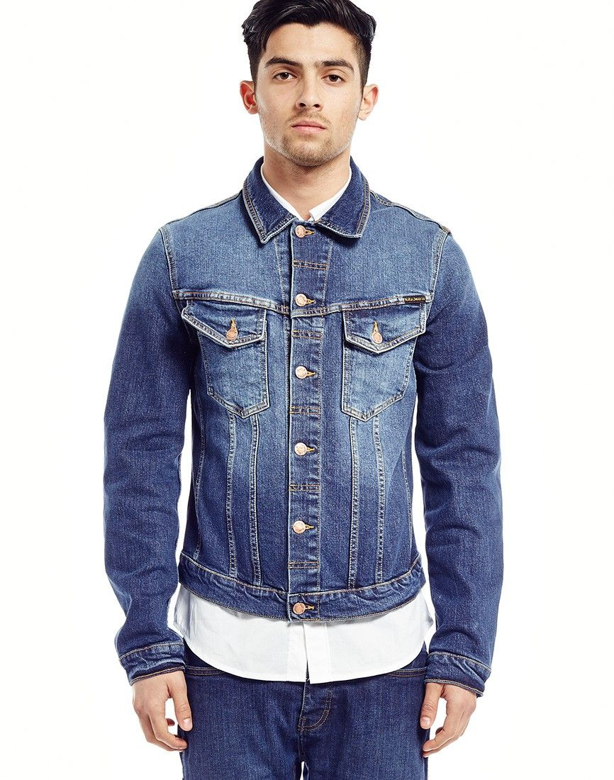Nudie Jeans Billy Dry Black Dense Denim Jacket | Shop men's ...