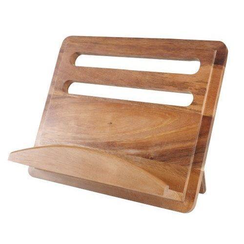 t&g support pour livre de cuisine bois d'acacia… | cuisine bois
