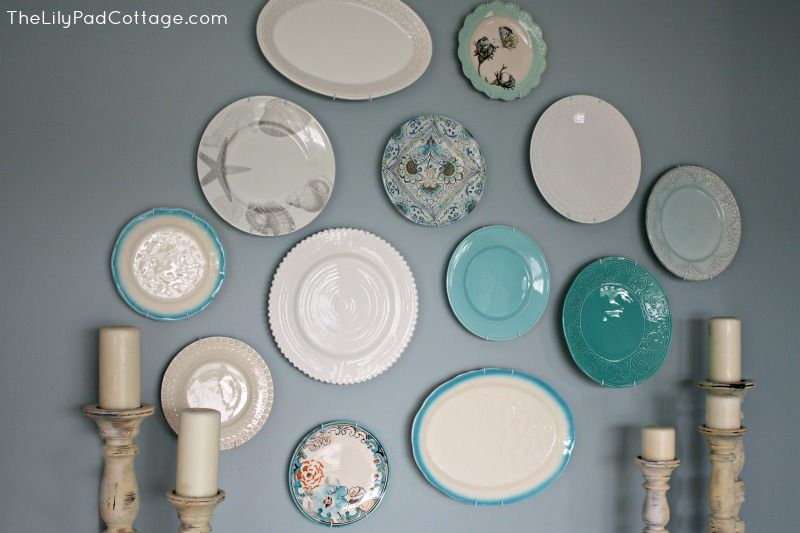 My New Plate Wall and More Shopping Adventures - The Lilypad Cottage & My New Plate Wall and More Shopping Adventures   Plate wall Hanging ...