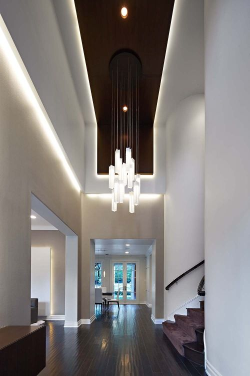 Lobby Chandelier Large Glass Chandelier Hanging Ceiling Light By