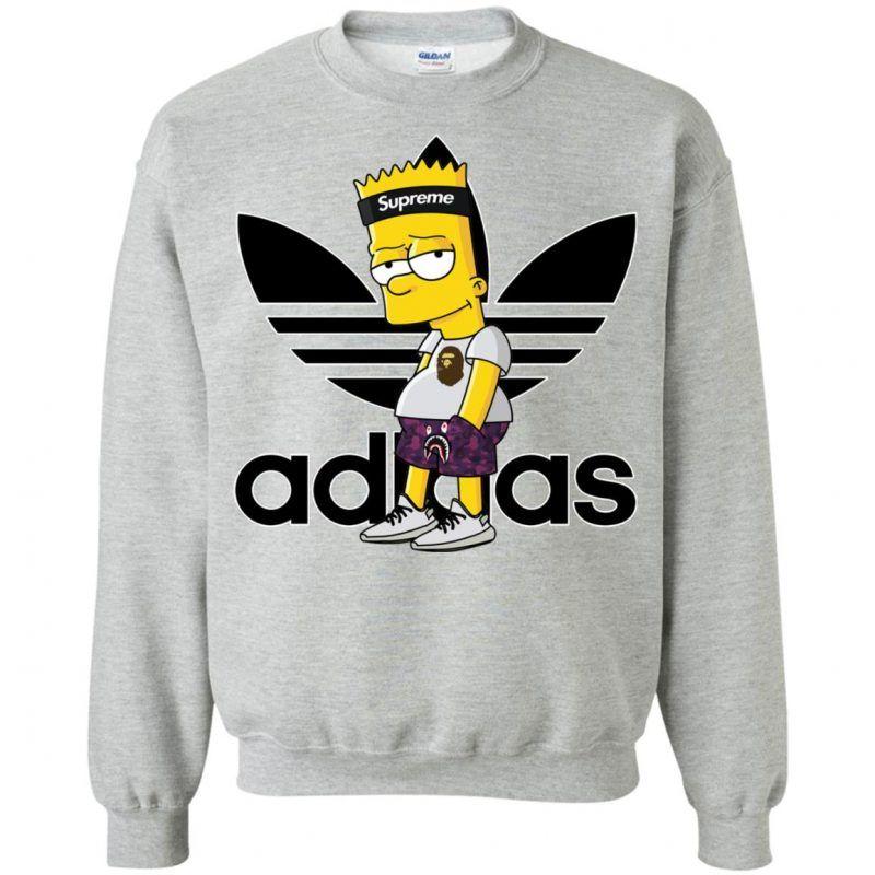 Supreme Bart Simpson With Adidas Yeezy