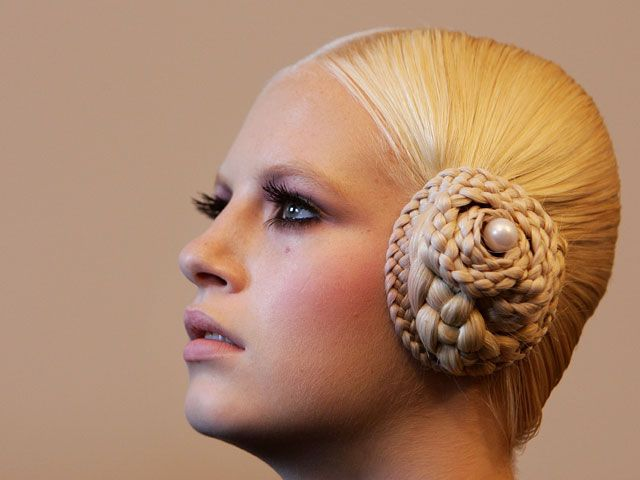 hair done for Harpers Bazaar...braided ear muffs | Costumes and ...