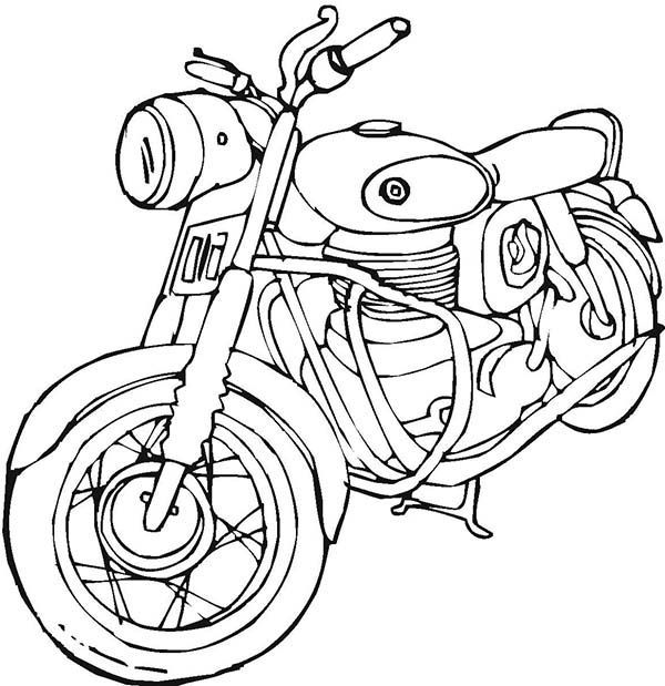 Harley Davidson Coloring Pages To Print Motorcycles Vintage