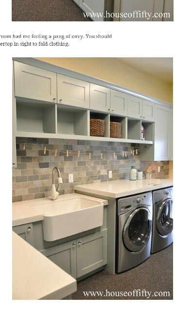 Laundry RoomSo Nice! Laundry room Pinterest Laundry rooms