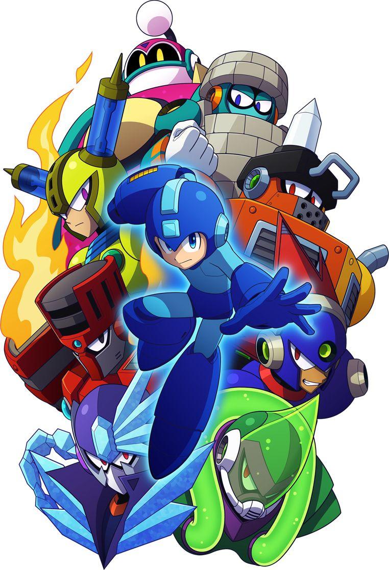 Mega Man 11 Cover Art Mega Man Art Mega Man Game Art