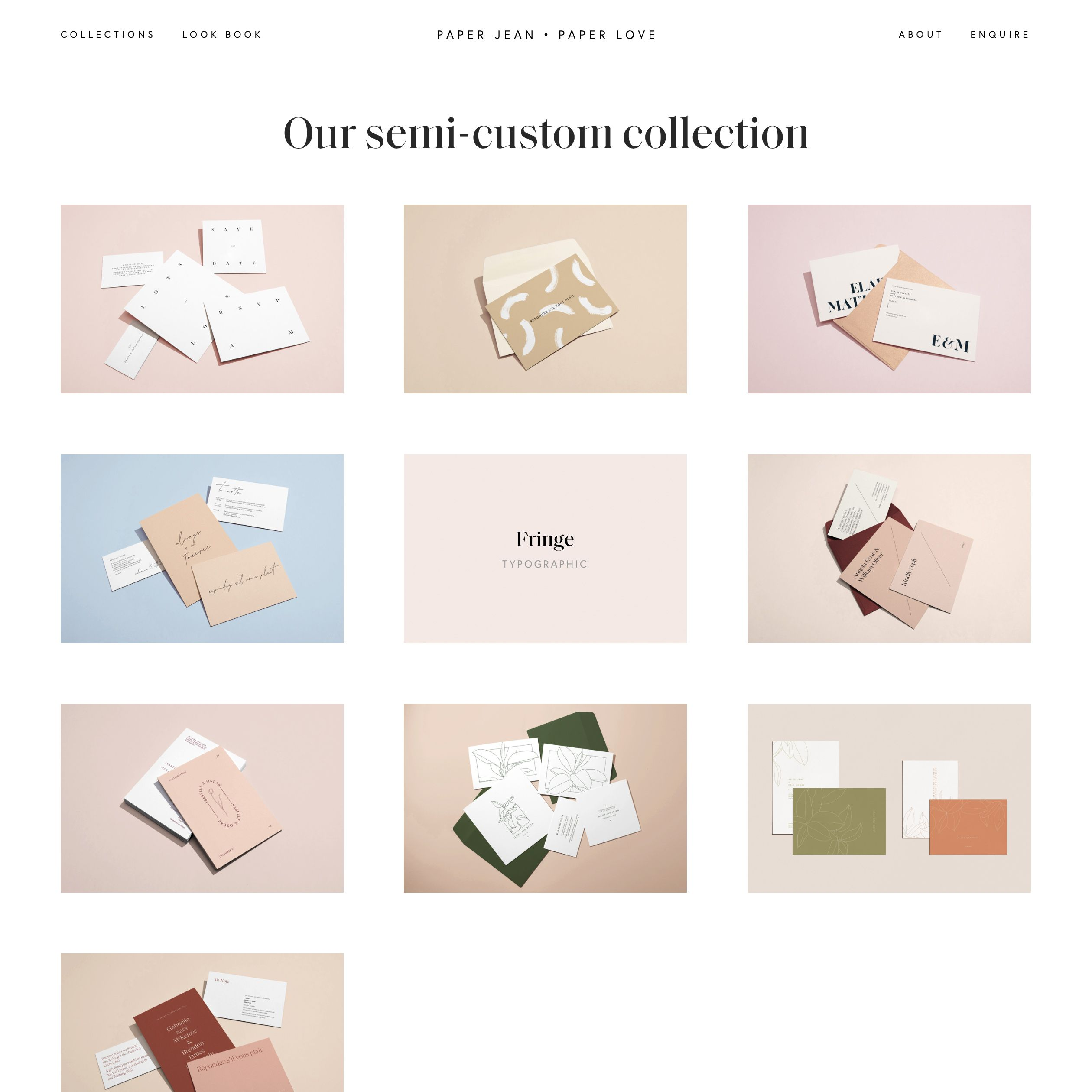 Fonts Used Saol Display And Europa Typewolf Typography Inspiration Wedding Stationery Design Modern Wedding Stationery Beautiful Wedding Stationery