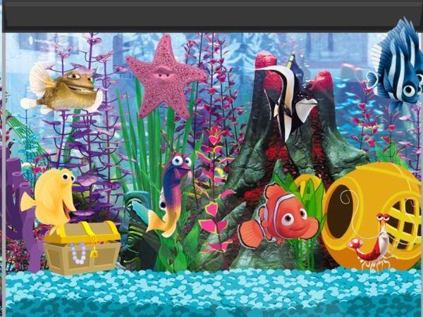 Finding nemo aquarium scene diy pinterest finding - Aquarium nemo ...