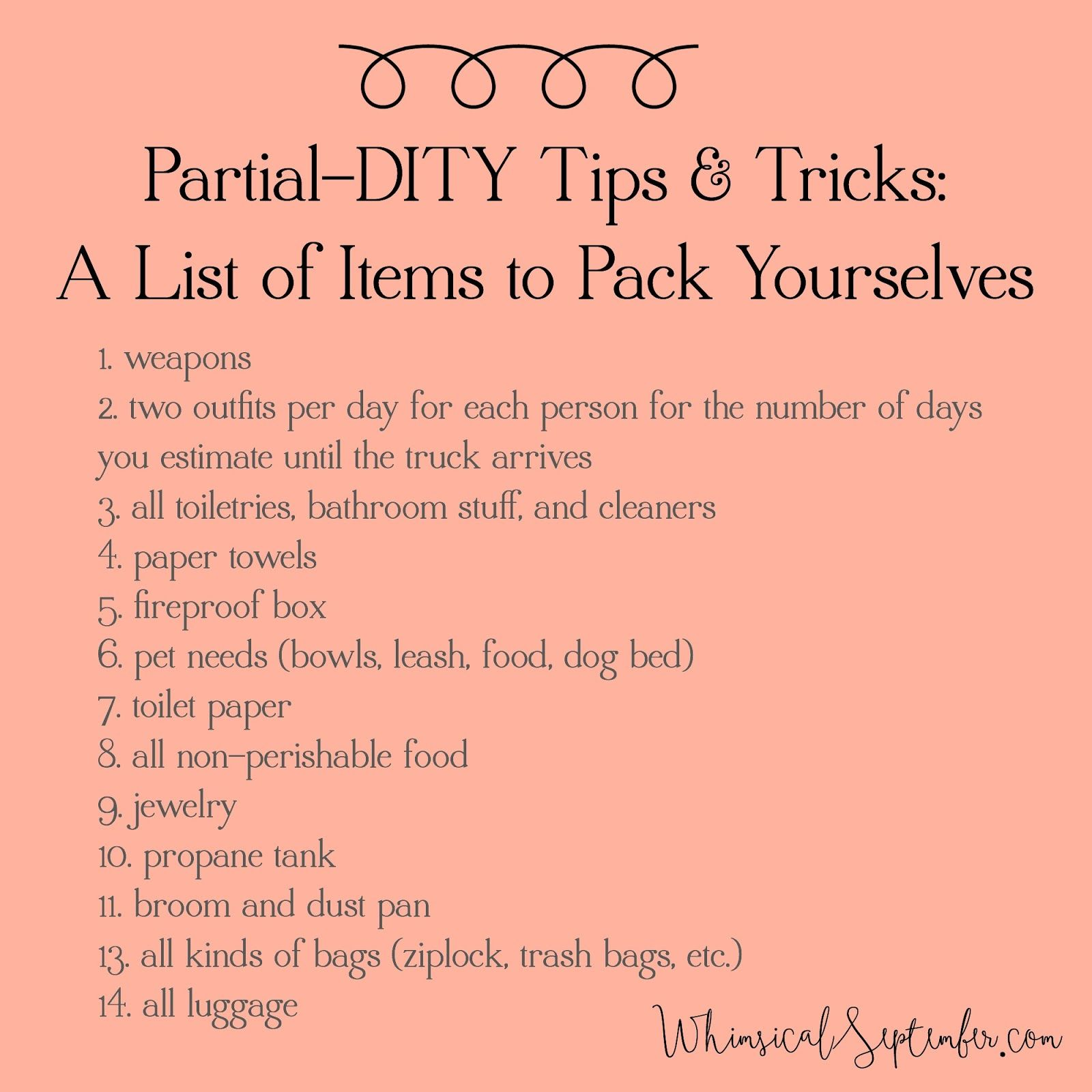 10 Tips And Tricks For Your Next Partial DITY Move