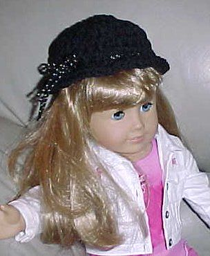 American Girl Crochet Hat #dollhats
