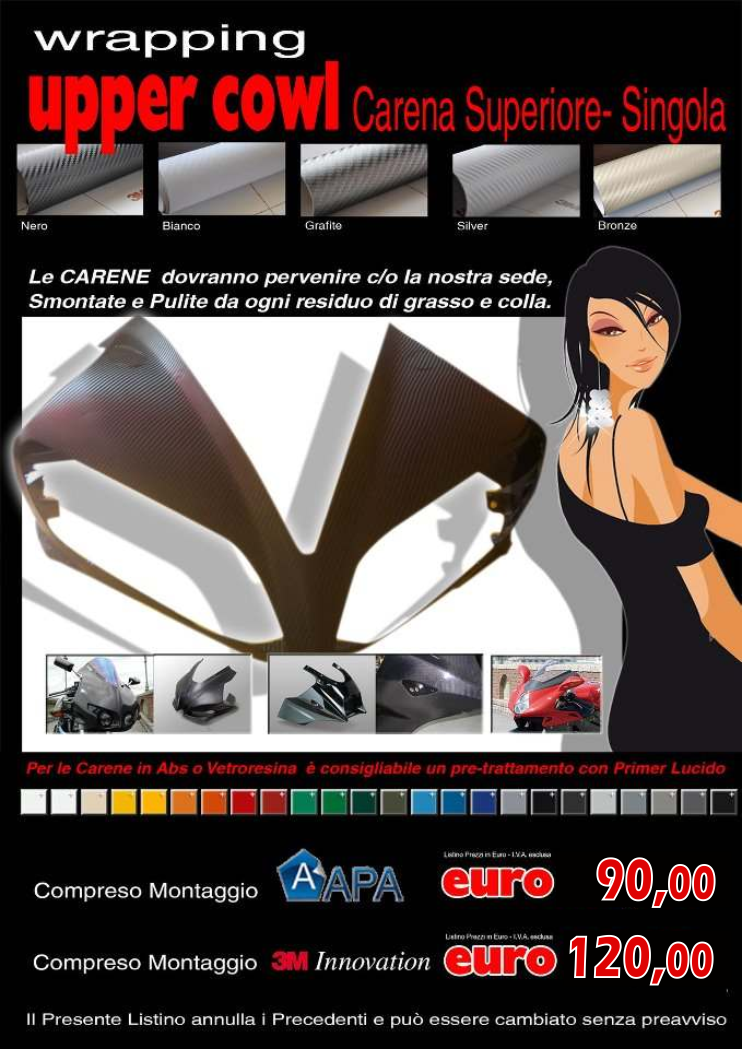 wrapping moto roma: CARENA SUPERIORE (singola)