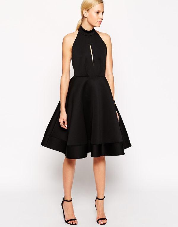 ASOS Halter Neck Midi Dress