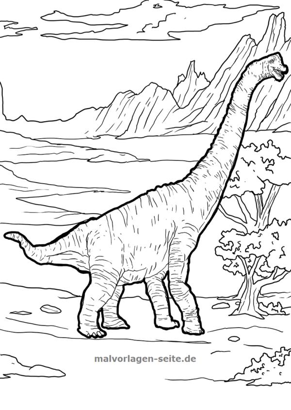 malvorlage brachiosaurus | malvorlage dinosaurier
