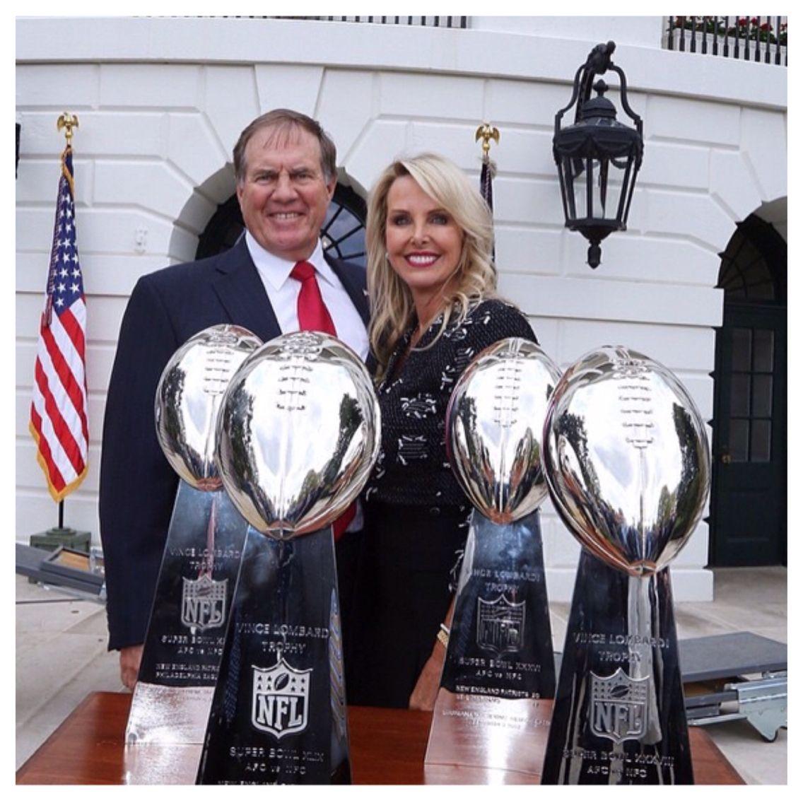 Linda And Bill Belichick Lombardi X S 4 01 03 04 14 New England Patriots Patriots Team Patriots Football
