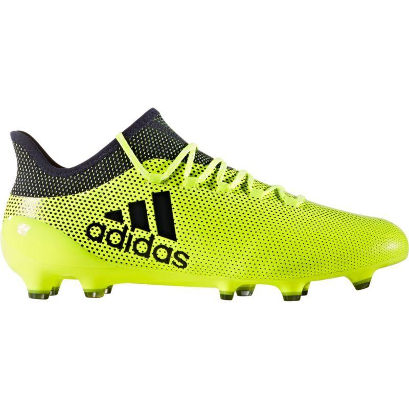 Adidas Men S X 17 1 Fg Soccer Cleats Volt Black Adidas Store Kids Soccer Cleats Soccer Cleats