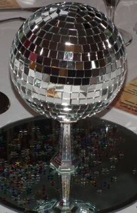 A Tabletop Disco Ball From 70u0027s Theme Night Organised By Themed Evenings