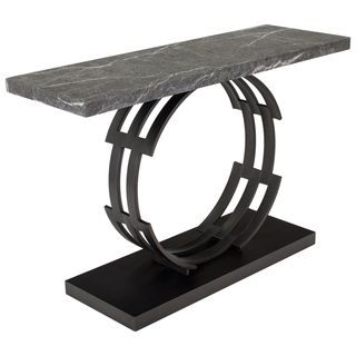 Safavieh Couture High Line Collection Taj Marble Black/ Brown Console Table  By Safavieh