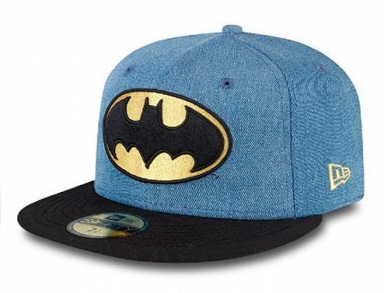 fba94449a21c9 Batman Denim Hero 59Fifty Fitted Baseball Cap by DC COMICS x NEW ERA ...