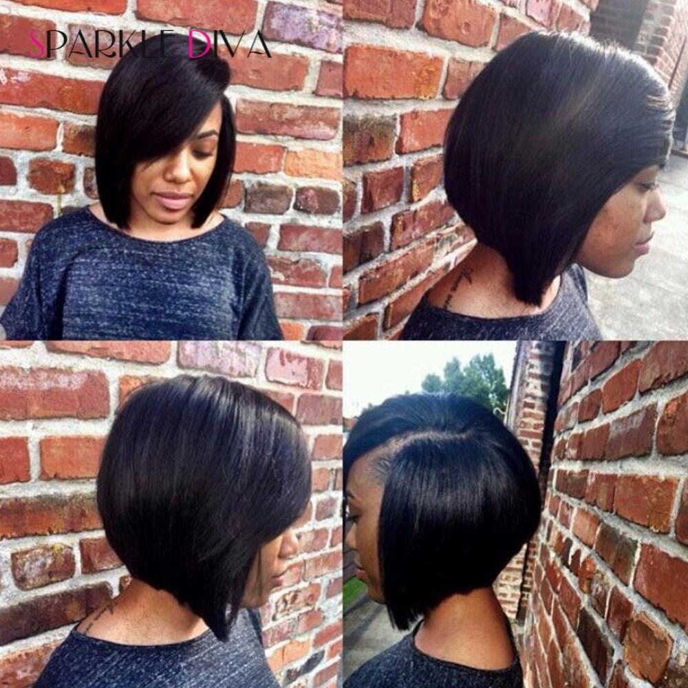 lace front bob wigs Brazilian virgin human hair Silky Straight lace front wigs human hair wigs for black women can adjustable
