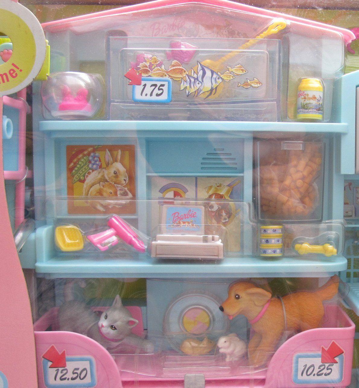 Amazon Com Barbie Sweet Sounds Pet Shop Playset W Working Bath Pet Sounds More 2002 Toys Games Pet Sounds Pet Shop Childhood Toys
