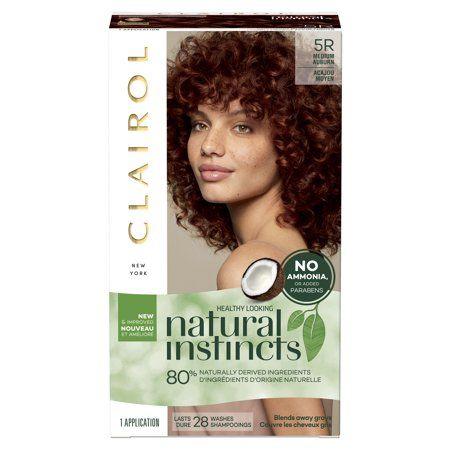 Clairol Natural Instincts Demi Permanent Hair Color Crème 5R Medium Auburn, 1 Application   Walmart.com Gallery