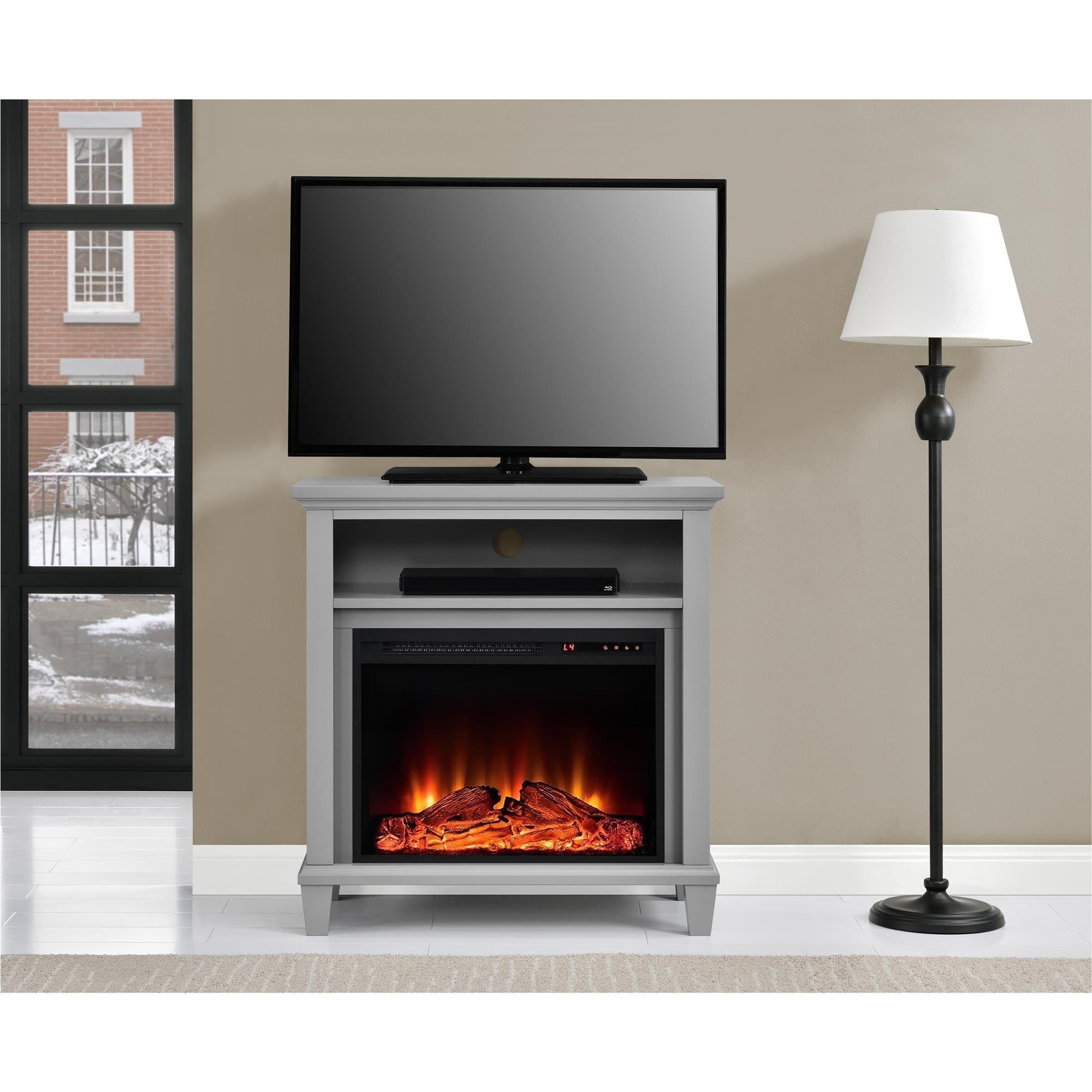 altra ellington 32 inch tv stand with fireplace 32 inch media