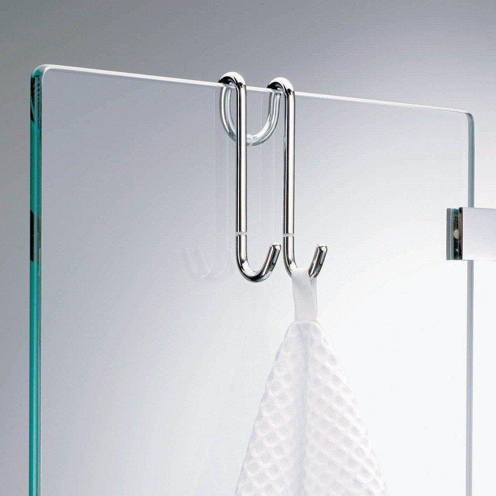 Over The Door Harmony Towel Hook For European Shower Stall Glass Enclosures Size 1 6 W X 4 3 L X 1 4 Dep Shower Cabin Bathroom Towel Hooks Shower Doors