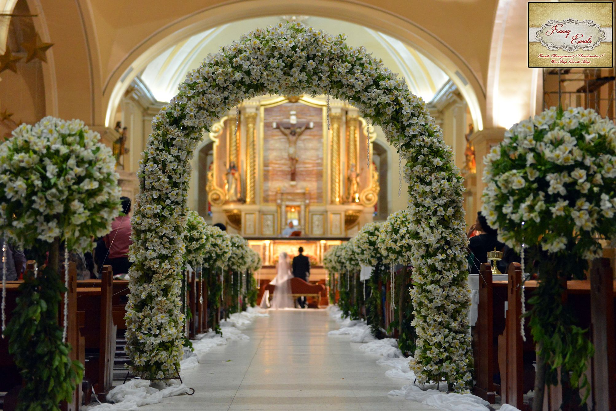 church wedding decoration ideas on a budget san pablo cathedral church with arch church setup 2946
