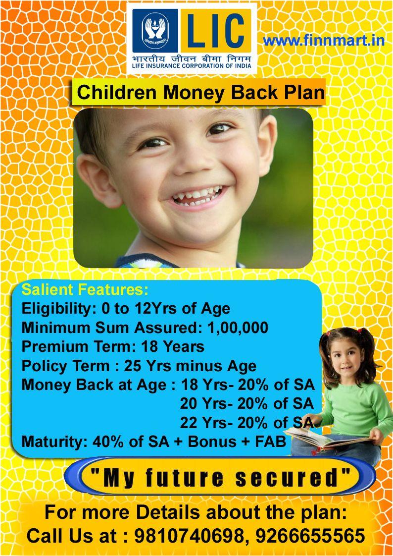 Children Money Back Plan Kids Money How To Plan Children